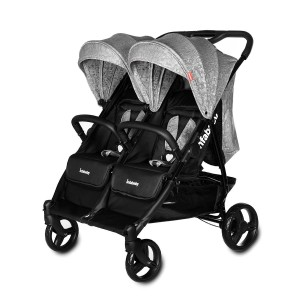 Infababy Duo–Elite Double Buggy - Mosaic Grey