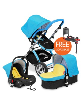 Infababy EVO 3in1 Travel System + FREE BASE - Electric Blue