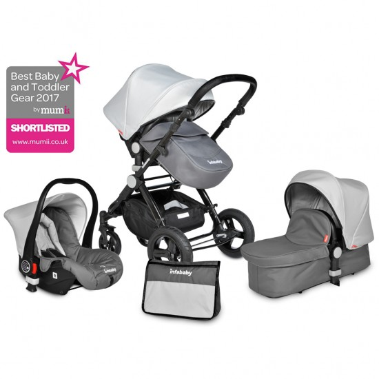 Infababy EVO 3in1 Travel System + FREE BASE - Grey