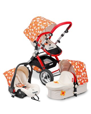 Infababy EVO 3in1 Travel System - Orange Flower