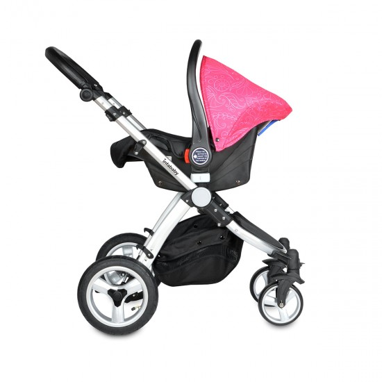 Infababy EVO 3in1 Travel System + FREE BASE - Floral Pink