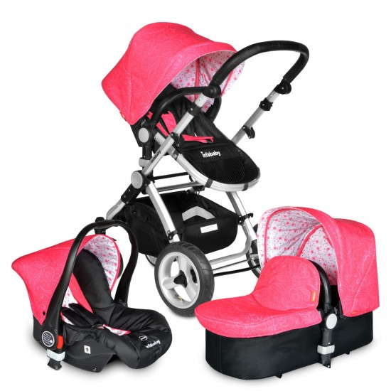 Infababy EVO 3in1 Travel System - Floral Pink