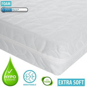 Infababy Coolmax® Cotbed Mattress - Luxury Foam – Non-Allergenic 140 X 70cm