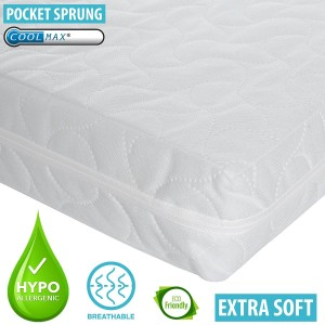 Infababy Coolmax® Cot Mattress - Pocket Sprung - Non-Allergenic 120 X 60cm
