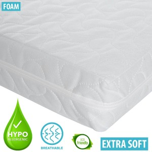 Infababy Cot Mattress - Luxury Foam – Non-Allergenic 120 X 60cm