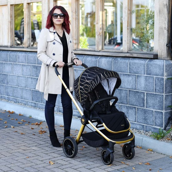 Infababy PRIMO i-Size Travel System + i-Size Base Package – Gold