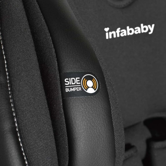 Infababy Safe-Plus Isofix Car Seat - Group 123 - Graphite