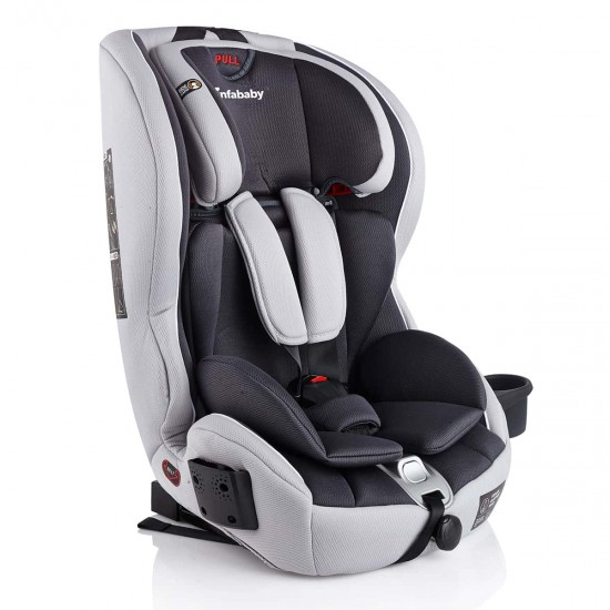 Infababy Safe-Plus Isofix Car Seat - Group 123 - Silver Storm
