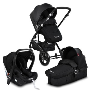Infababy FLO 3 In 1 I-SIZE Travel System - Midnight