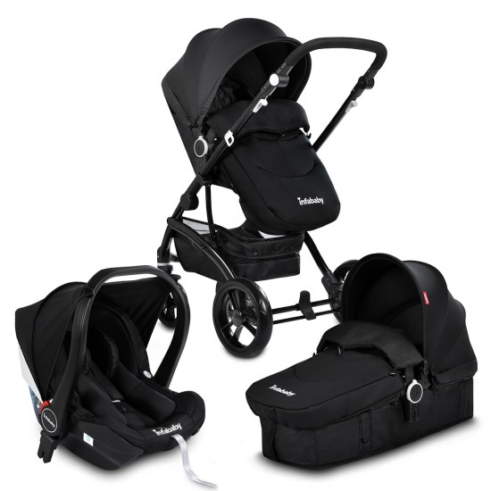 Infababy FLO 3in1 i-Size Travel System - Midnight