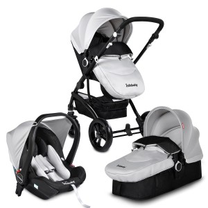 Infababy FLO 3 In 1 I-SIZE Travel System - Moon Grey