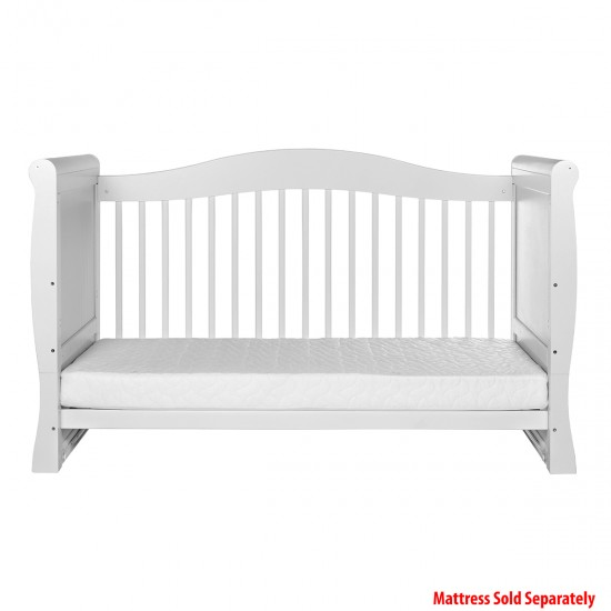 Infababy Superior Sleigh Cotbed - White