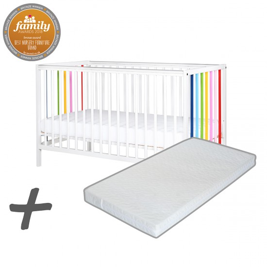 Infababy Rainbow Cot Bundle Deal with Mattress