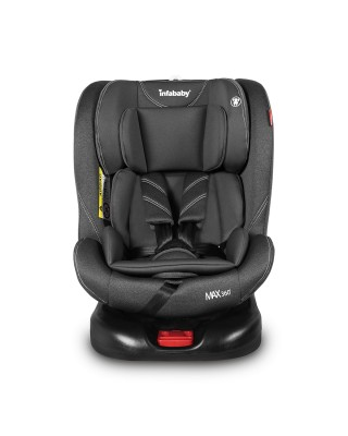 Infababy MAX360 Isofix Car Seat - Group 0123 – Onyx