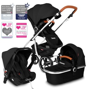 Infababy MOTO 3in1 i-Size Travel System - 2020 Model - Midnight