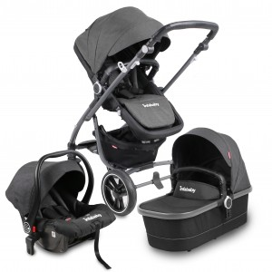 Infababy MOTO 3in1 Travel System - 2019 Model - Titanium Grey