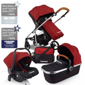 Infababy MOTO 3in1 Travel System - 2019 Model - Chili