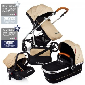 Infababy MOTO 3in1 Travel System - 2019 Model - Soft Beige