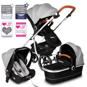 Infababy MOTO 3in1 i-Size Travel System - 2020 Model - Soft Grey