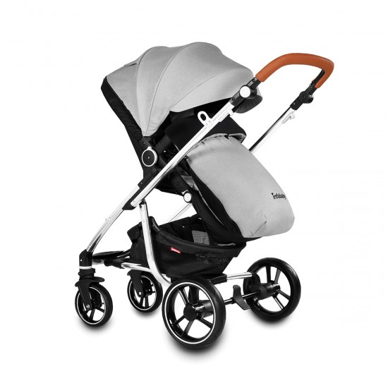Infababy MOTO 3in1 i-Size Travel System - Soft Grey