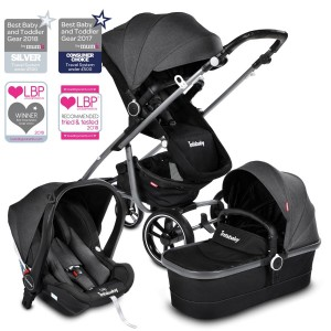 Infababy MOTO 3 In 1 I-SIZE Travel System - Titanium Grey
