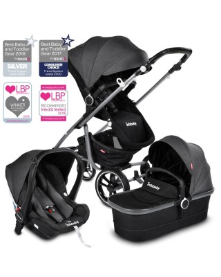 Infababy MOTO 3in1 i-Size Travel System - 2020 Model - Titanium Grey