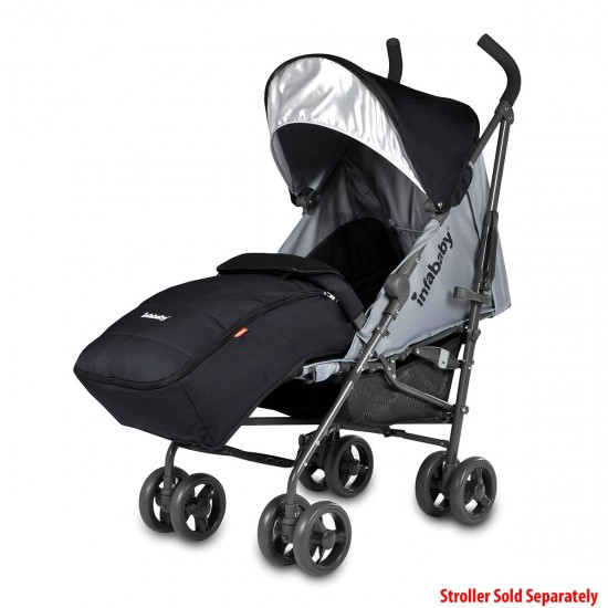 Infababy Halo Stroller Footmuff - Cool Black