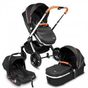 Infababy STYLO 3in1 Travel System - Luxury Black