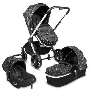 Infababy STYLO 3in1 Travel System - Silver Diamond