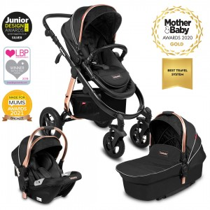 Infababy ULTIMO 4-Wheel 3in1 Travel System - Black Saffron