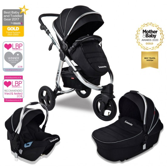 Infababy ULTIMO 3-Wheel 3in1 Travel System - Black Beauty