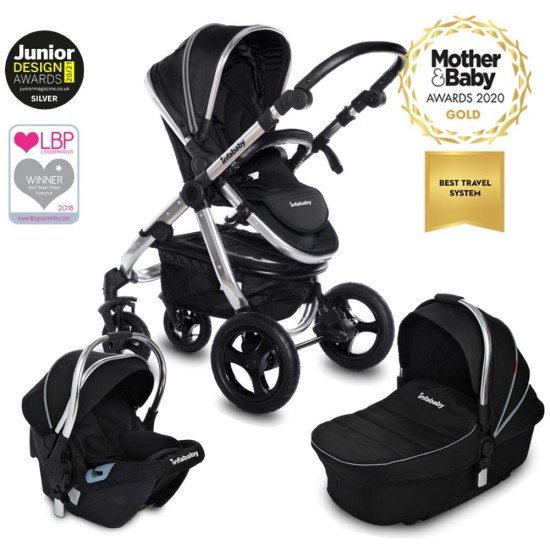 Infababy ULTIMO 4-Wheel 3in1 Travel System - Black Beauty